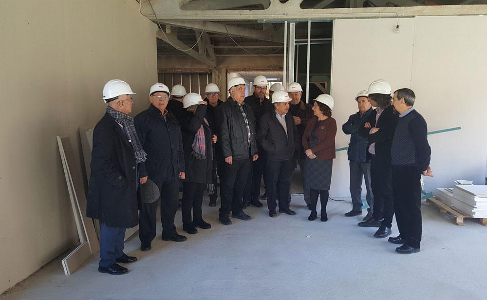 La consejera María Victoria Broto ha visitado las obras junto al presidente de Atadi, José Luis Gómez, y el de Plena Inclusión, Santiago Villanueva