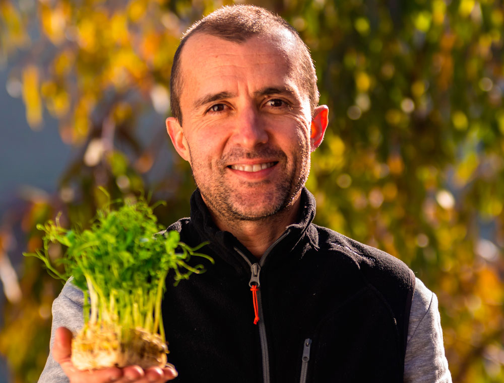 Juan Naudín es el gerente de la empresa zaragozana Zgreens