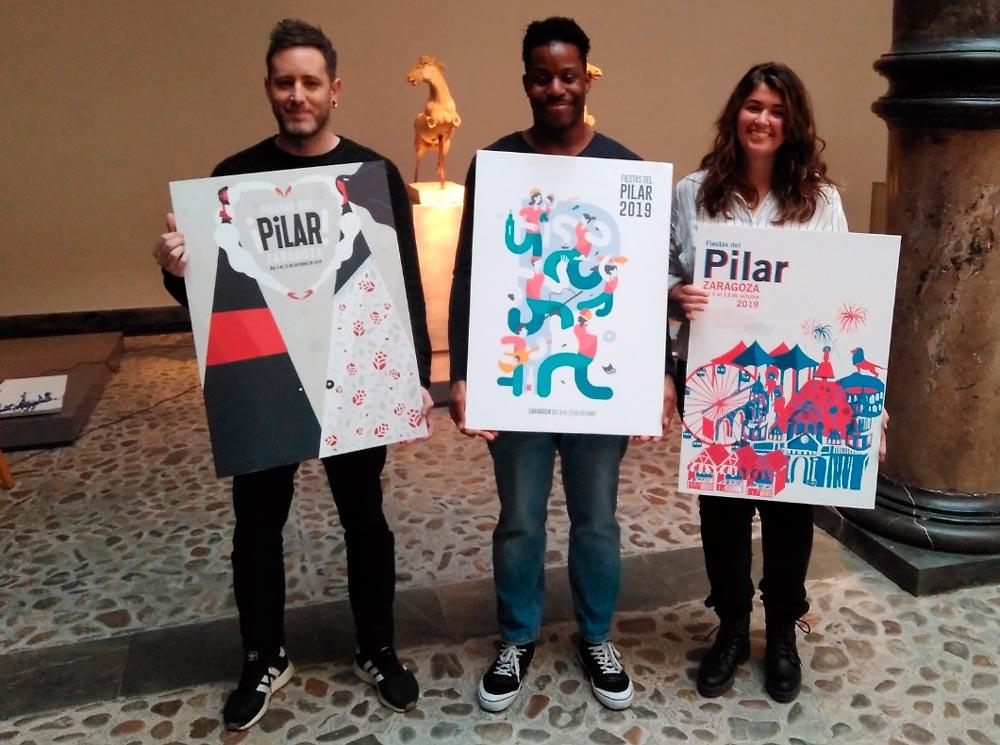 Los tres finalistas son artistas zaragozanos