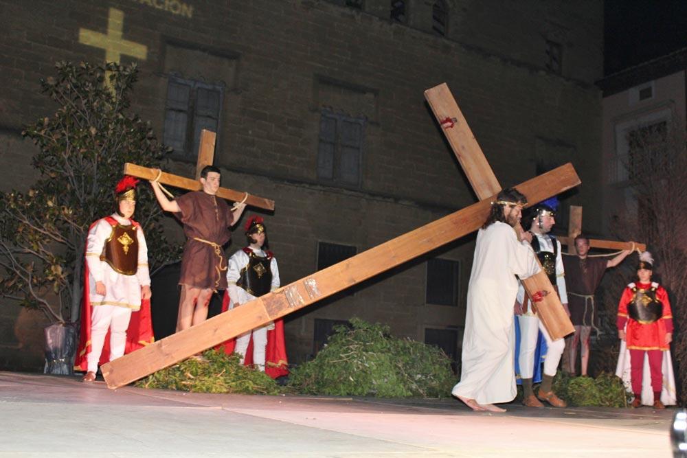 Estos actos se celebran en Jueves Santo. Foto: Ayuntamiento de Ayerbe