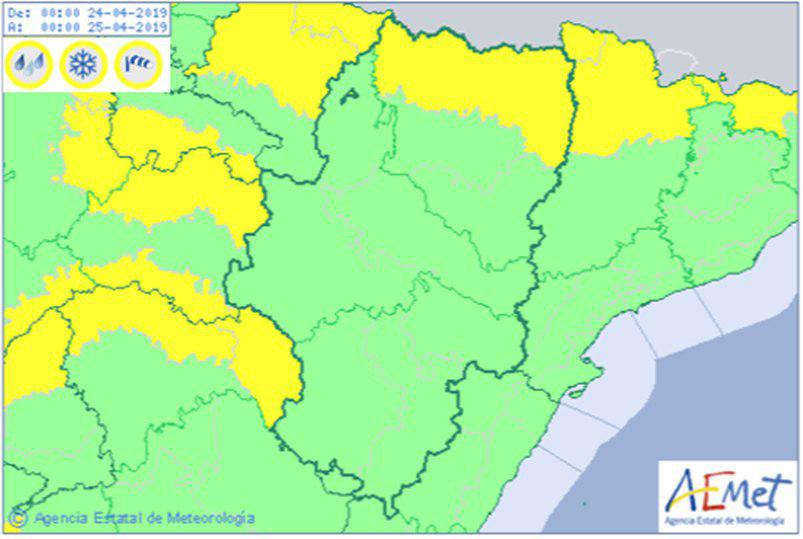 El Pirineo será el principal afectado de este cambio de clima