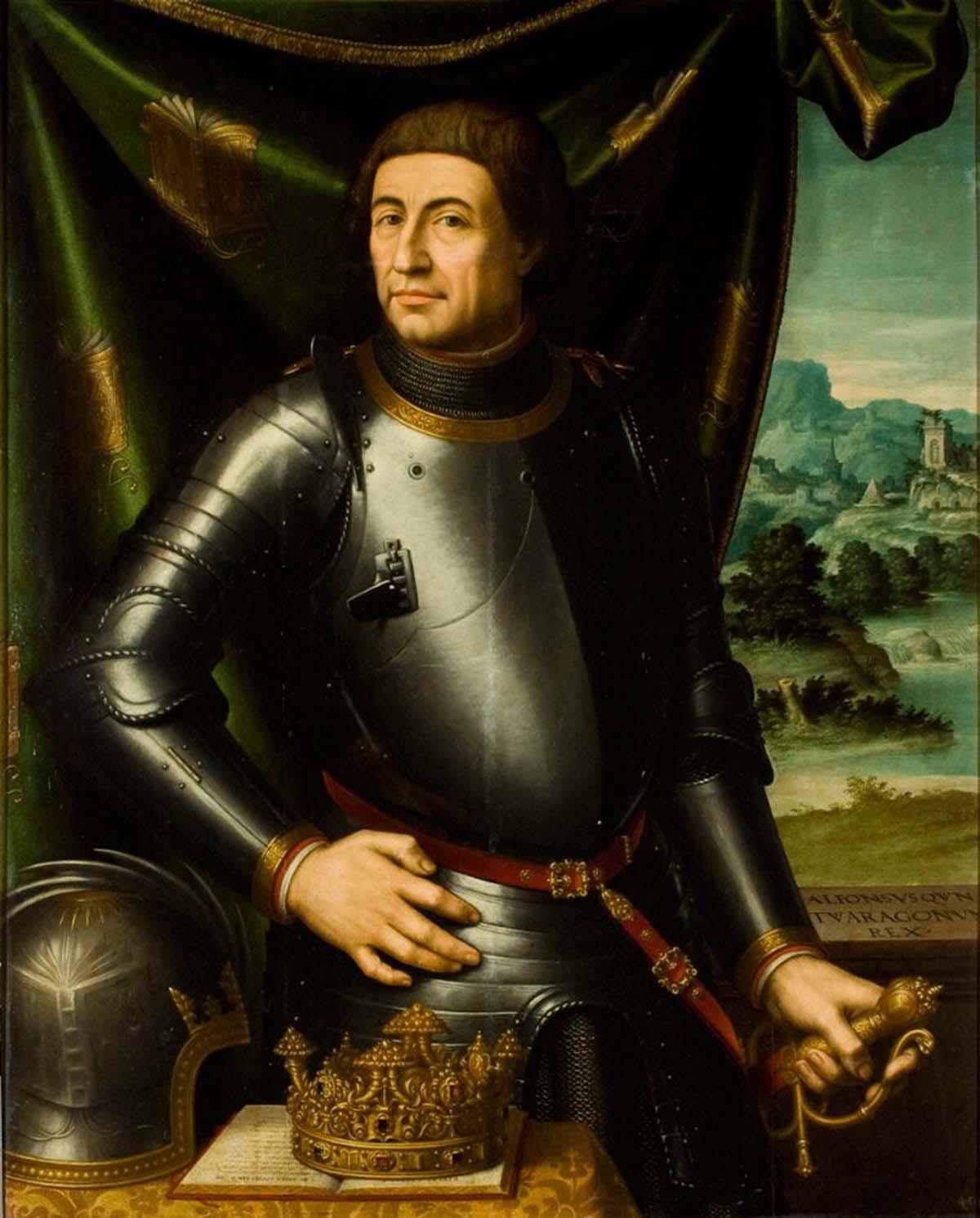 El retrato de Alfonso V de Juan de Juanes refleja la influencia de los maestros italianos