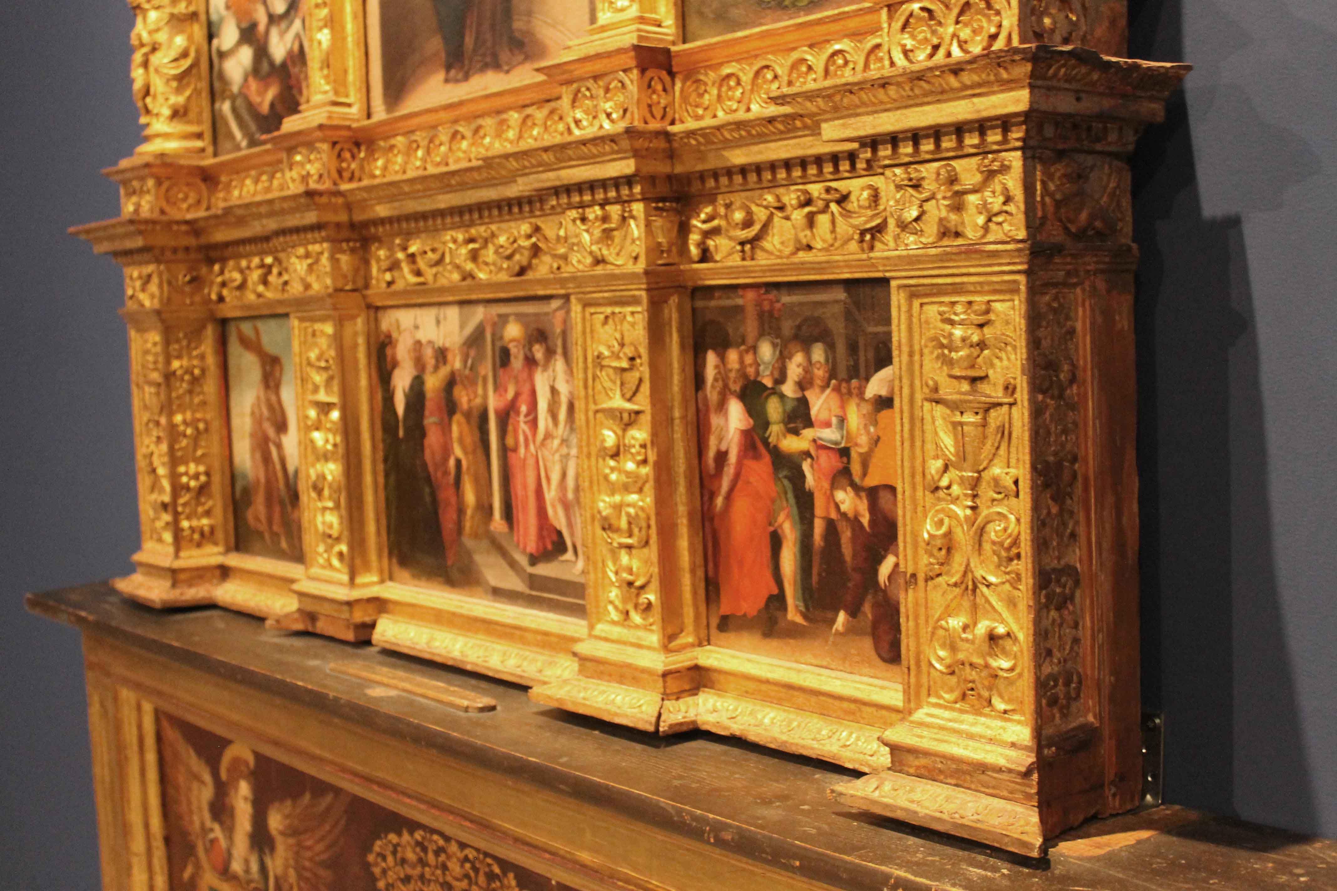 En pintura, la obra más antigua es el retablo de San José, de 1510