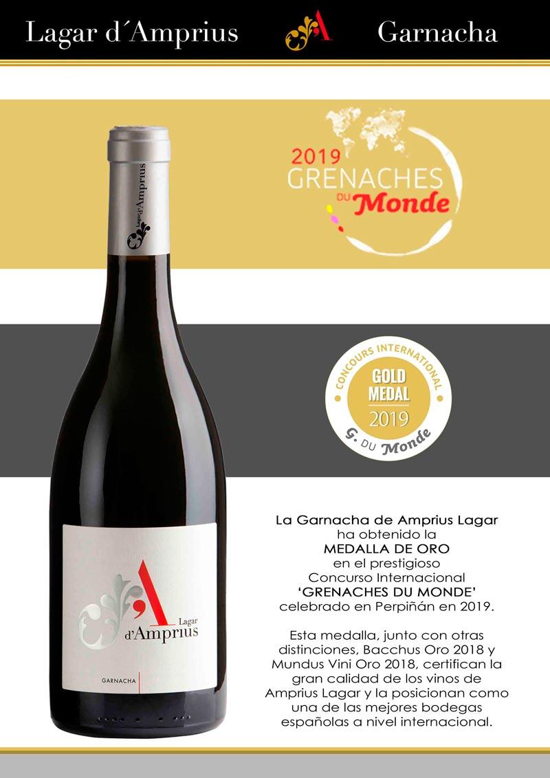 Una medalla que vuelve a certificar la calidad de los vinos Amprius Lagar