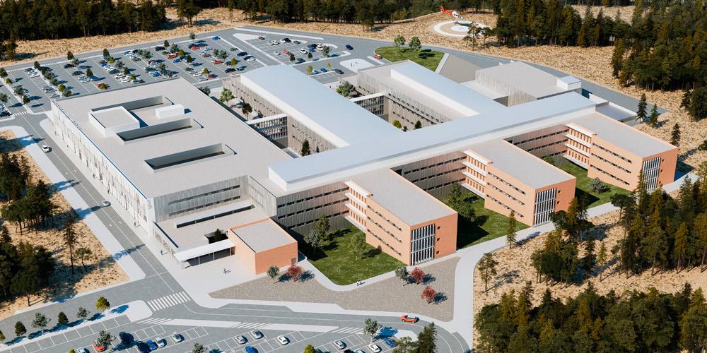 Este hospital cuenta con un presupuesto cercano a los cien millones de euros