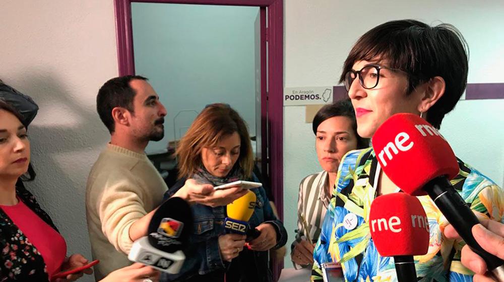 Violeta Barba ha asegurado que Unidas Podemos tenderá las manos a Pedro Sánchez